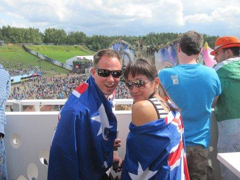 On the Tomorrowland VIP deck
