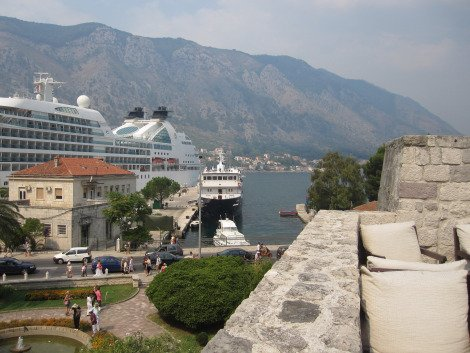 Cruise ships docked at Kotor, Montenegro, Solo Travel Montenegro