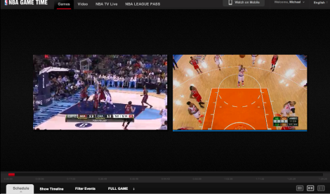 Watching 2 games at once