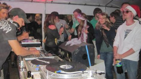 Home made club in a tent. This is what sets SMS apart from other festivals.