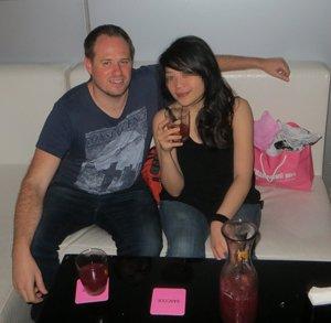 Jess and I enjoying Sangria