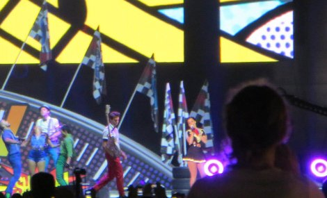 Katty Perry performing at the Singapore Grand Prix in 2012
