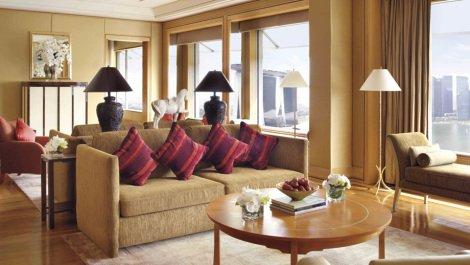 Ritz Singapore Suite Lounge Room