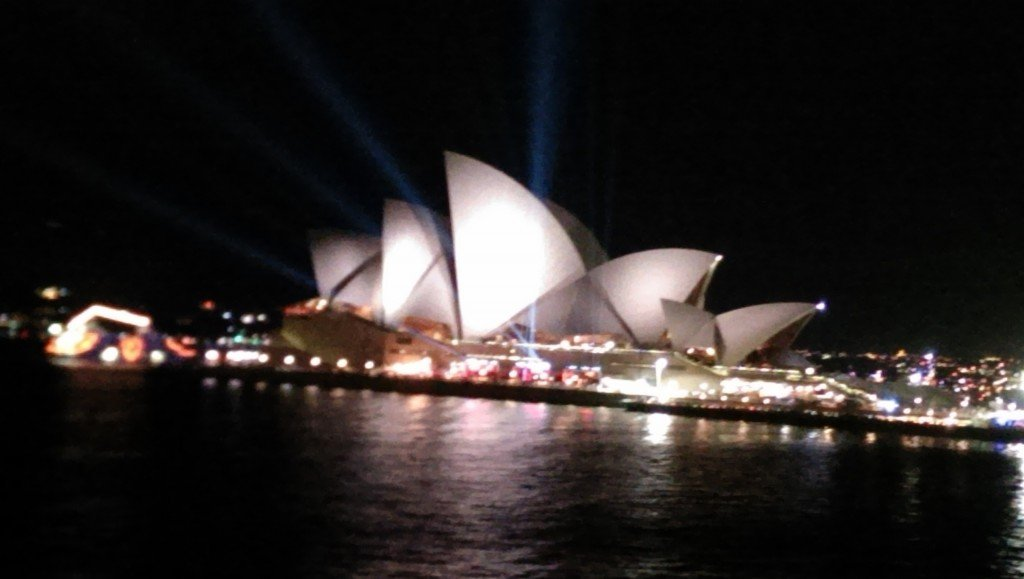 Sydney Opera House from our balcony.