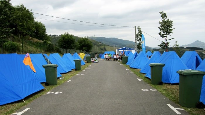 Contiki Camping at Bilbao Live music festival, Spain