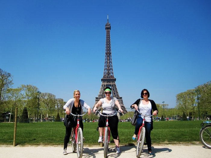 Bikes at Eiffel Tower.