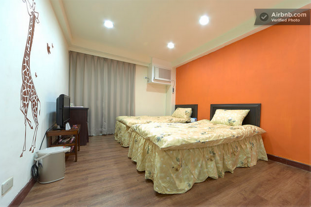 Romantic Orange - One of the rooms I stayed in in Taiwan. Generic is not a description you can use for this room.