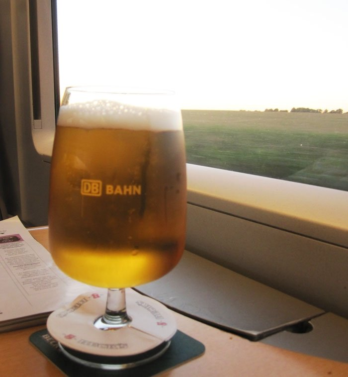 Beer on German Train
