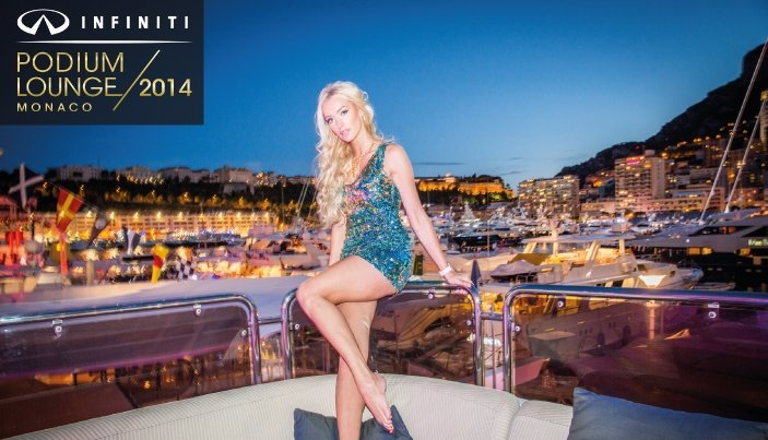 There will be the Infiniti Podium Lounge tri-deck superyacht moored in the harbour. Infinity Podium Lounge Monaco