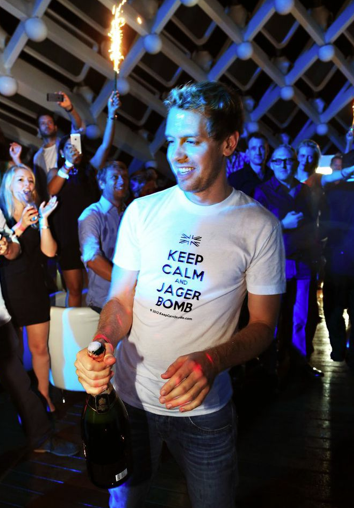Sebastian Vettel at Podium Lounge Monaco