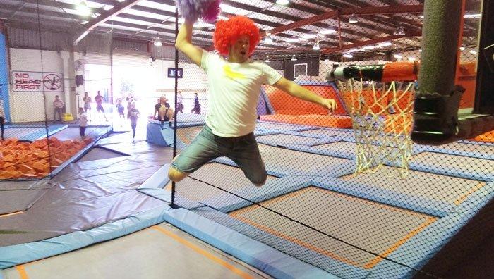 Long distance dunk - Wollongong Weekender