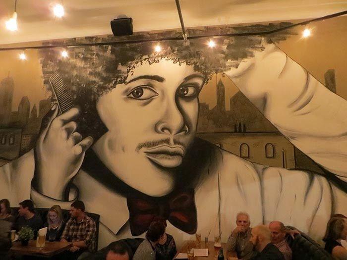 wall length mural, Three Chimneys, Wollongong Weekender