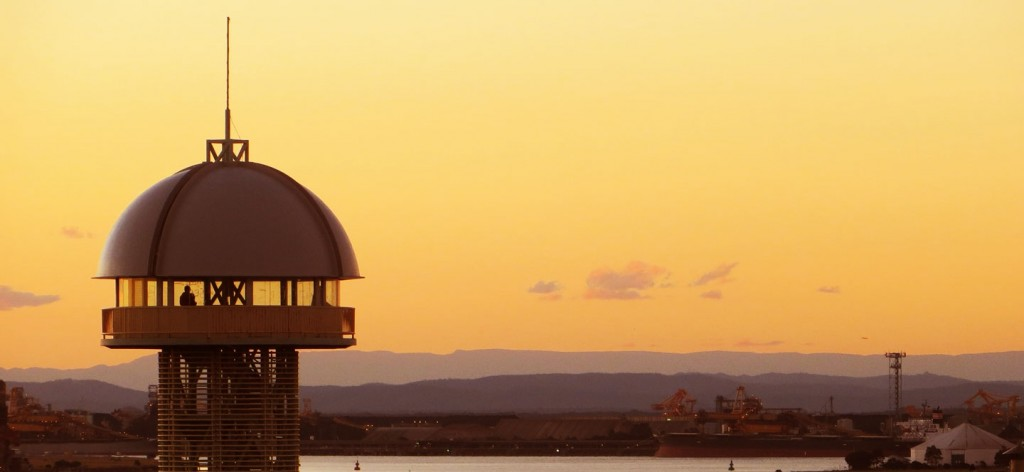 Queens Wharf Tower Newcastle at Sunset