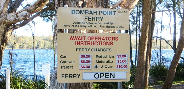 Bombah Ferry Prices