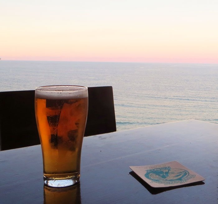 Beer at Yamba Pacific Hotel, Australian East Coast Road Trip
