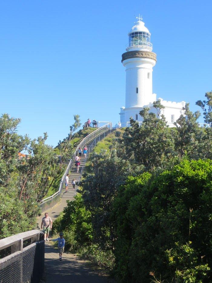 Byron Bay Lighthouse and steps. Australian East Coast Road Trip