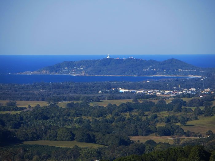 Byron Bay as viewed from the Bangalow Hinterland Australian East Coast Road Trip