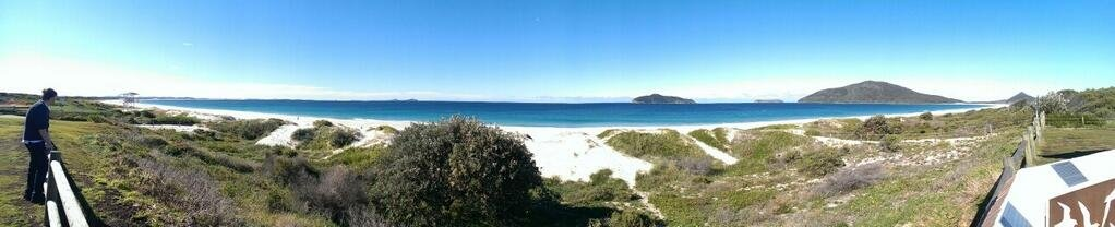 Hawkes Nest Beach Panorama