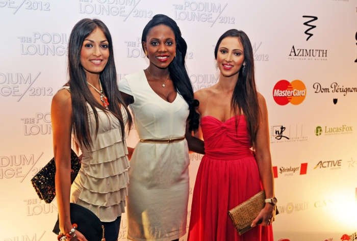 Miss Universe Italy 2012, Miss Universe Angola 2012, Miss Universe Germany 2012 at The Podium Lounge Singapore