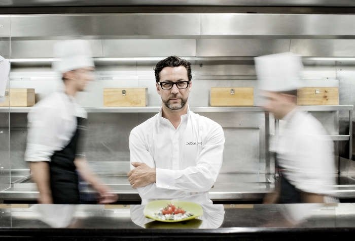 Quique Dacosta - 3 Michelin Star Chef - of The Race Dinners at The Podium Lounge Singapore 2014 on Fri 19 & Sat 20 September.