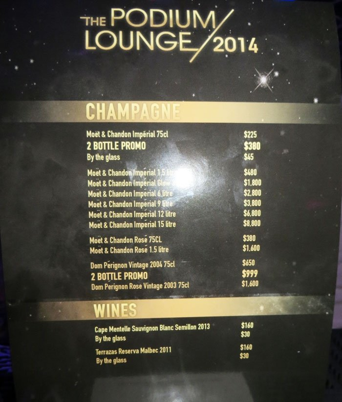 price list podium lounge singapore review