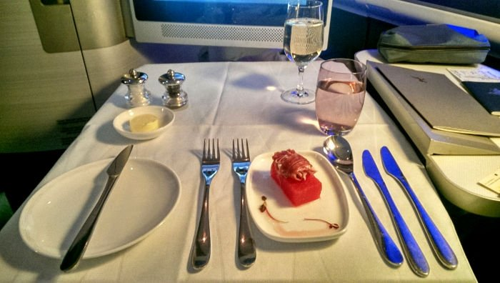 Entree British Airways First Class Review