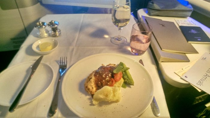 Main Course  British Airways First Class Review