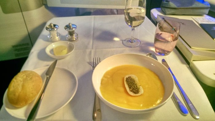 Soup British Airways First Class Review