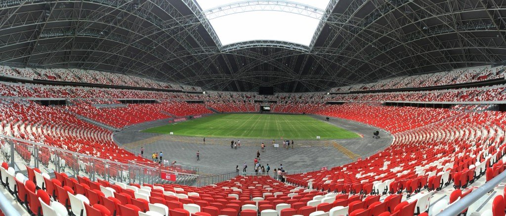 New Singapore National Stadium - Credit Jerry Wong -  https://www.flickr.com/photos/wongjunhao/