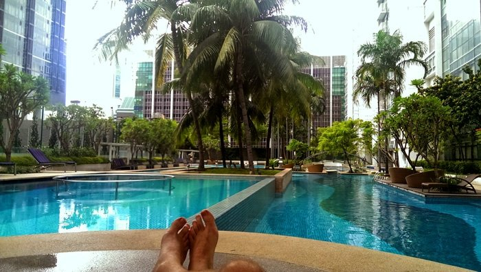 Icon Village Pool - why I'm moving to Singapore