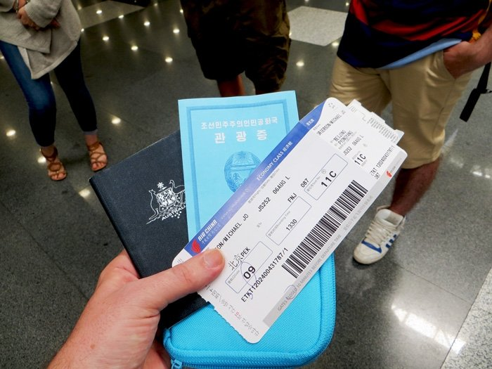 North Korea Tourist Visa, Passport and Boarding Pass