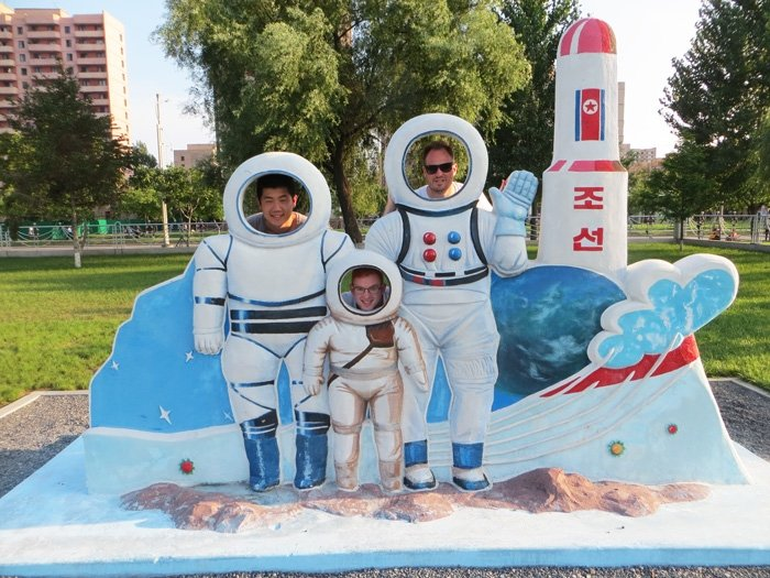 Pretending to be astronauts in Pyongyang