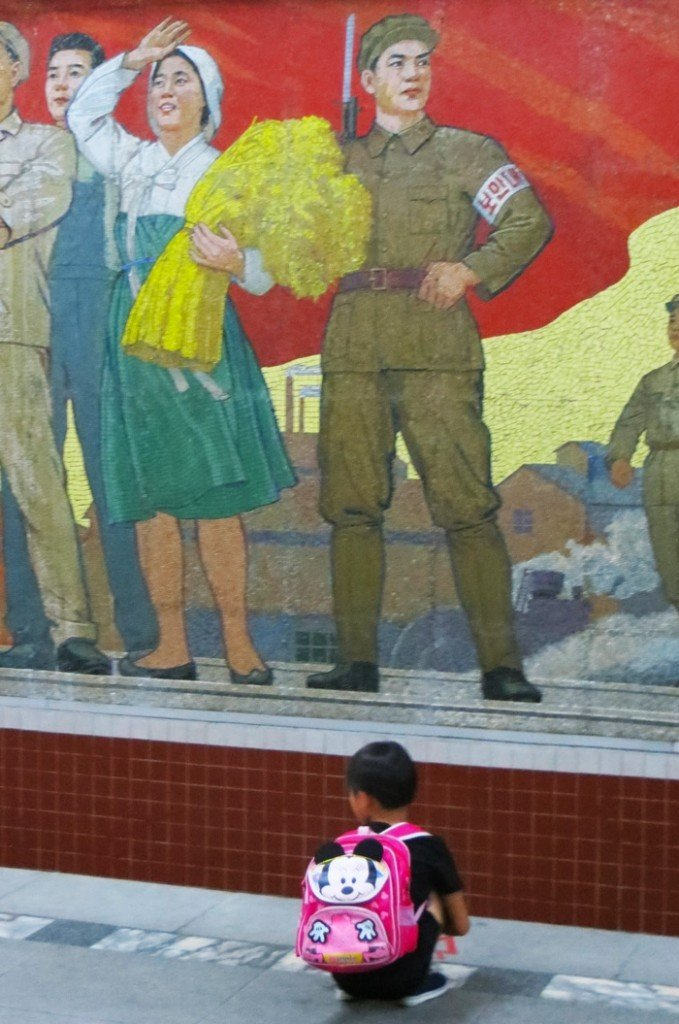 Child at Pyongyang subway