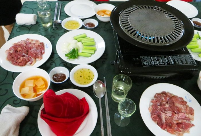 North Korean Duck BBQ