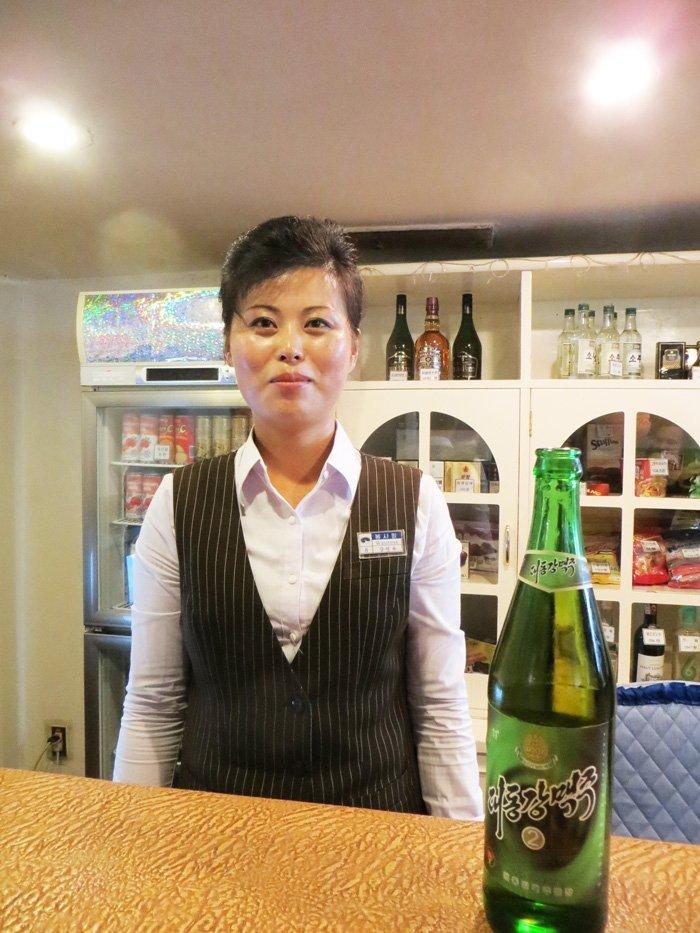 Waitress Yanggakdo Hotel Pyongyang