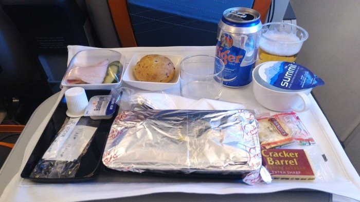 Singapore Airways Premium Economy Meal