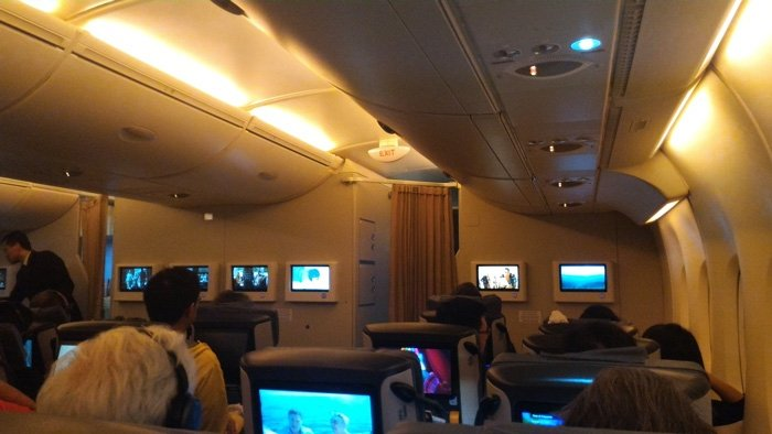 Singapore Airways Premium Economy Cabin