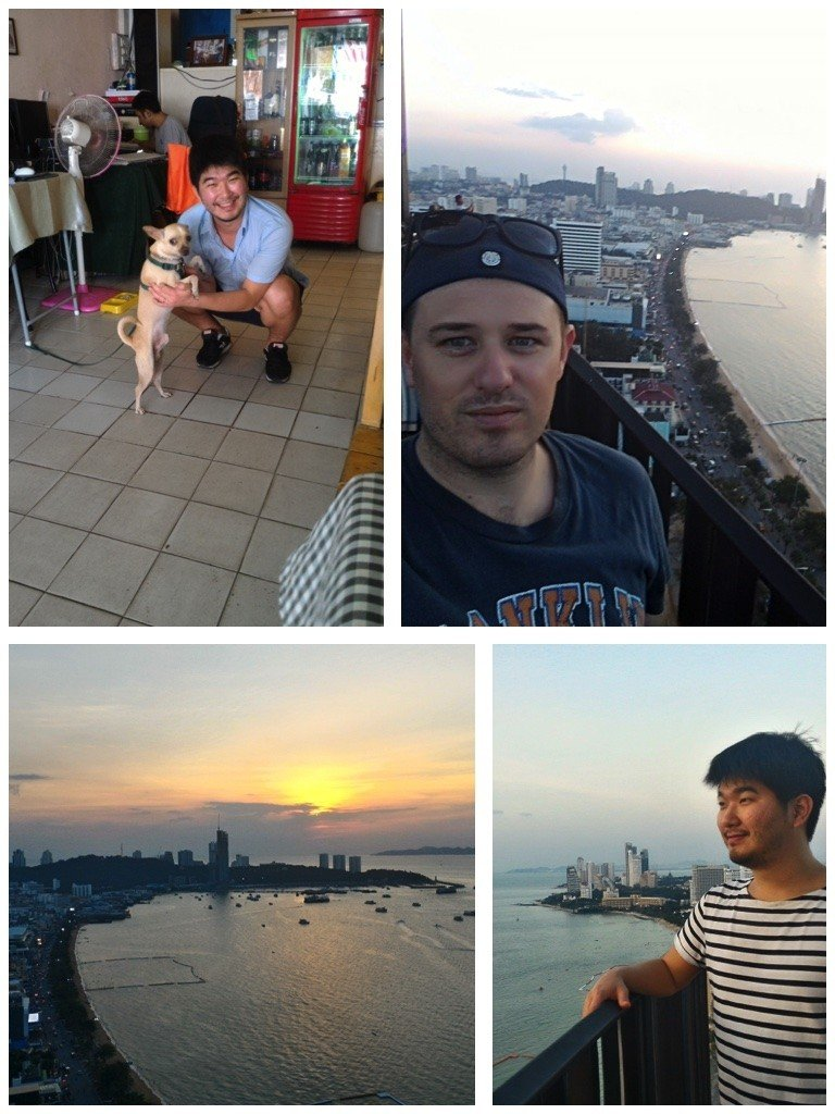 Mostly hanging out at the rooftop Pattaya Hilton