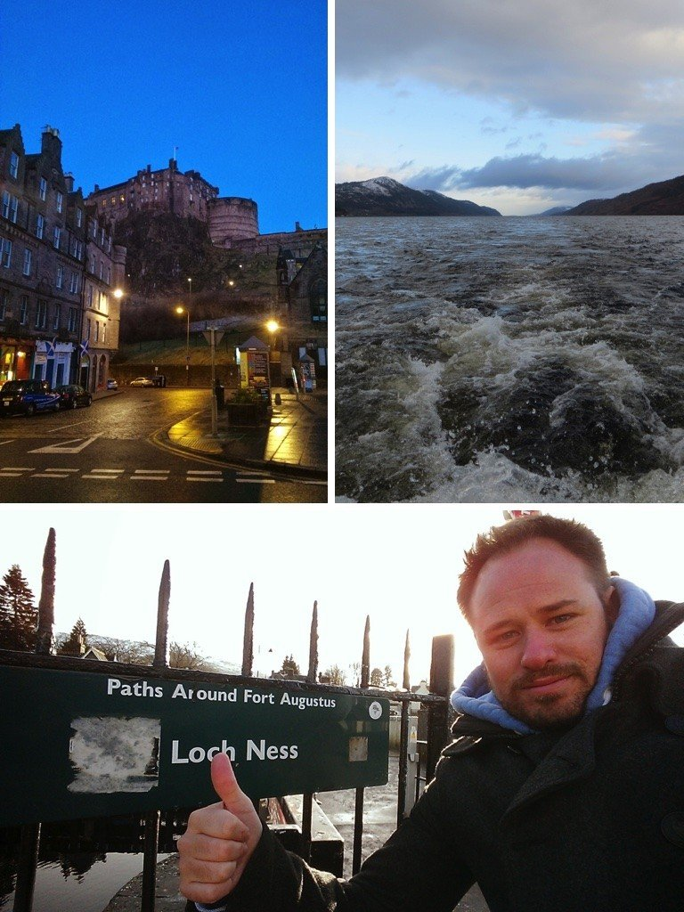 Edinburgh Castle and Loch Ness