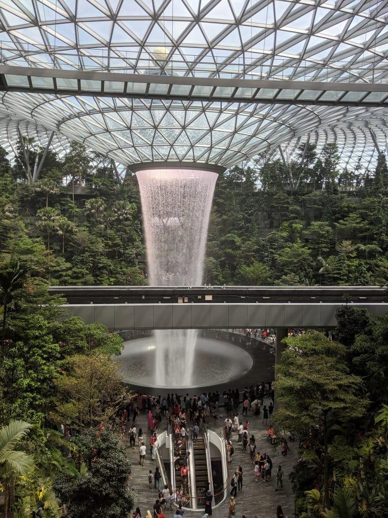 Waterfall at Jewel Changi Airport